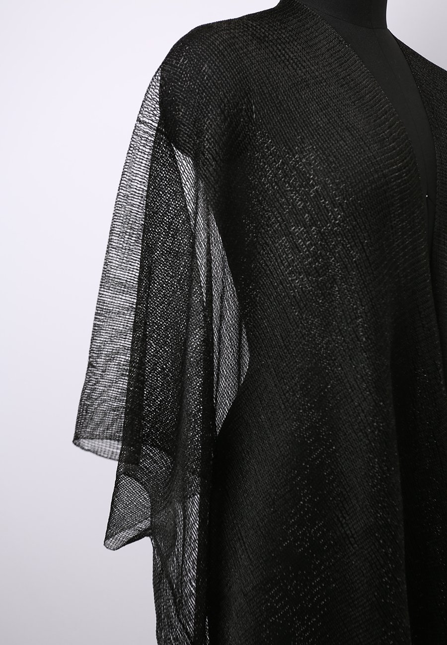 MissShorthair Womens Glitter Open Front Cardigans Sheer Metallic Long Kimono with Tassel by MissShorthair (Image #6)