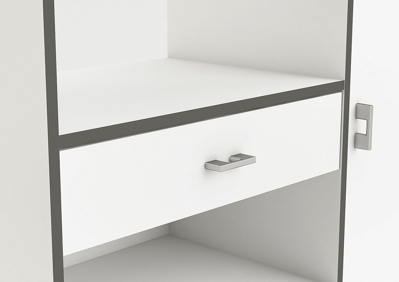 demeyere Buzz Küchenschrank, Spanplatte und Melamin, weiß, 90 x 112 ...