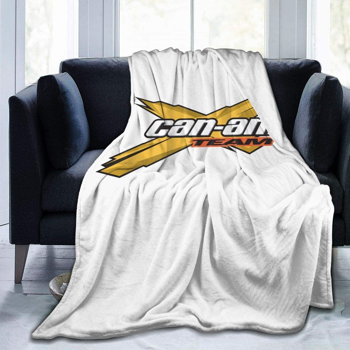 Engshi Mantas para Cama Can Am Team Soft and Warm Throw Blanket Digital Printed Ultra-Soft Micro Fleece Blanket