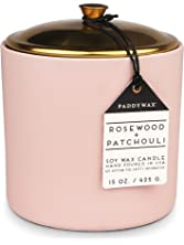 Paddywax Hygge Collection Scented Soy Wax Candle, 15-Ounce, Rosewood & Patchouli