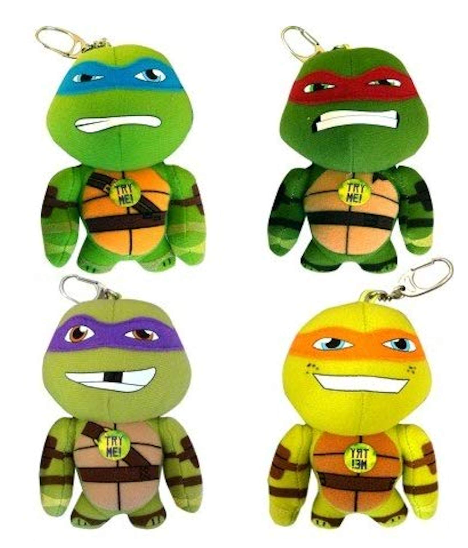 Teenage Mutant Ninja Turtles Talking Bag Clip 4 (Leonardo, Donatello, Raphael, Michelangelo)
