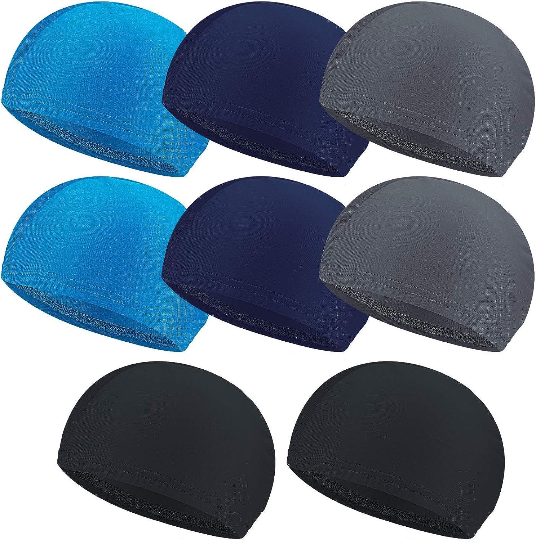 Awpeye 8PCS Cooling Skull Cap, Helmet Liner Hat, Sweat Wicking Cap Running Hats, Cycling & Football Skull Caps for Men and Women