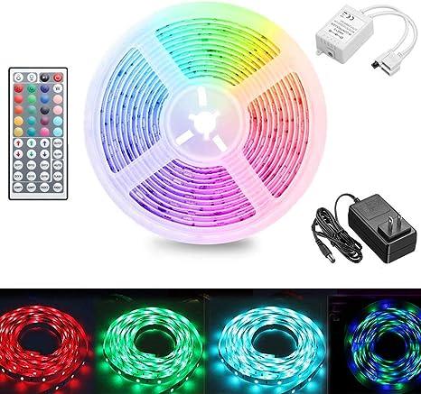 LED Strip Lights 16.4FT TV Back Rooms Bar Lights 2835 Color Changing with Remote