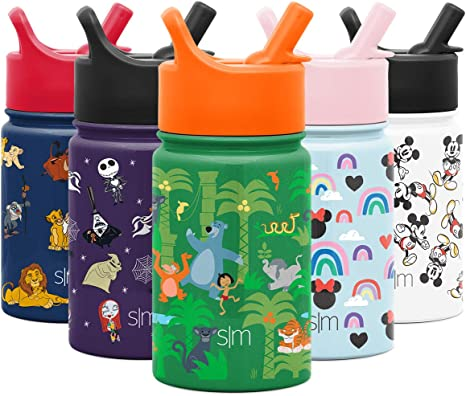 Holiday Season Family Set Water Bottle w// Straw and Rotatable Lid For SCHOOL KID