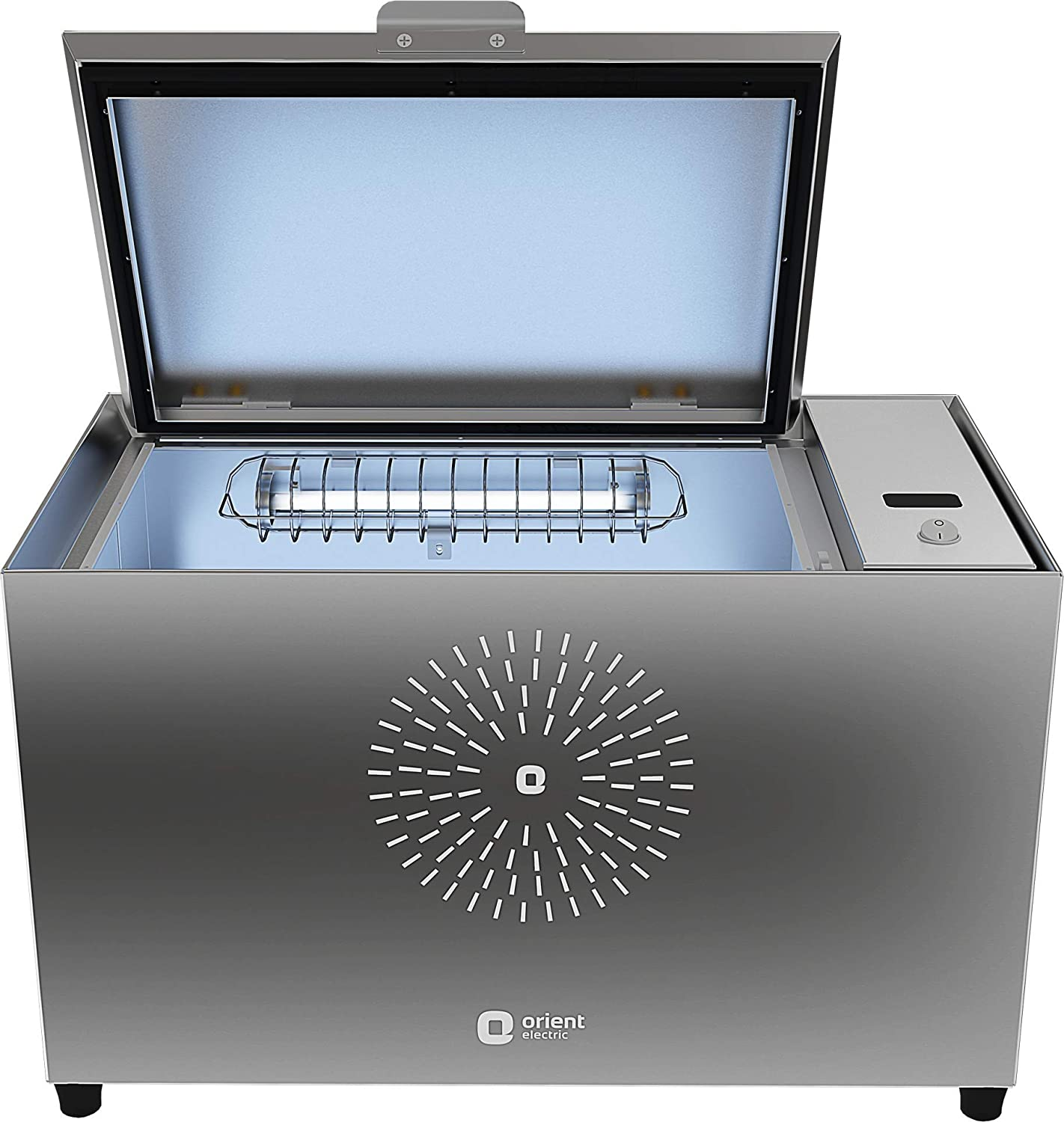 Orient Electric UV Sanitech One Touch Sanitization/Sterilization Box - Kills 99.99% Germs in 4 Minutes. Tested and Certified at NABL accredited lab (Made in India, 34 litres, Silver)