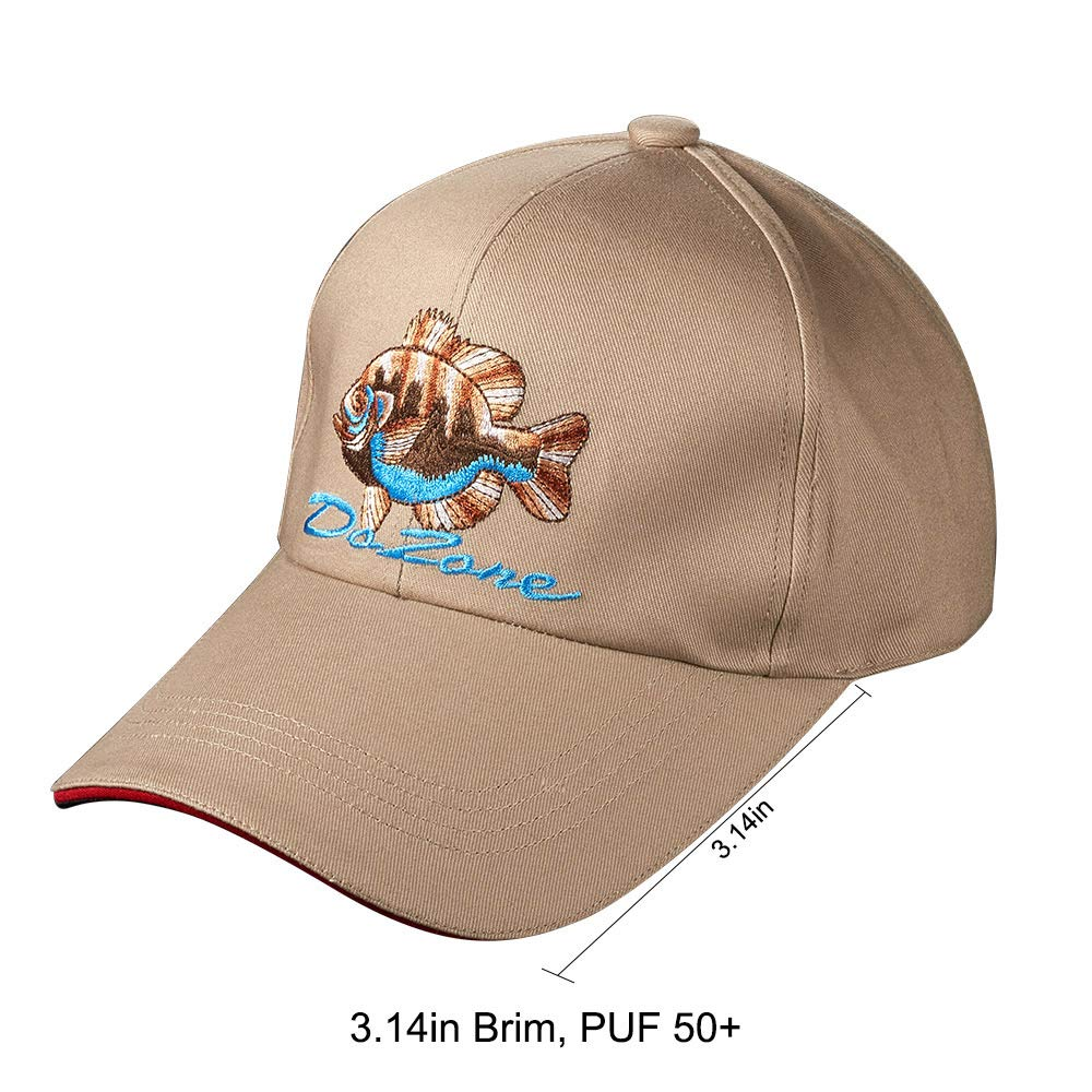 68a7bd506 Amazon.com : Dr.Fish Ball Cap Outdoor Hat Embroidered Waterproof ...