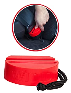 Premium Safety Seatbelt Secure Buckle Cover by Wididi (1 Pack and 2 Pack) (Red, 1-Pack)