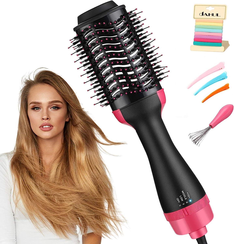 Amazon.com: Hair Dryer Brush, JAHUL 3 in 1 Hot Air Brush Hair Dryer and  Volumizer Styler, Salon Negative Ionic Hair Brush Blow Dryer Straightener &  Curler: Health & Personal Care