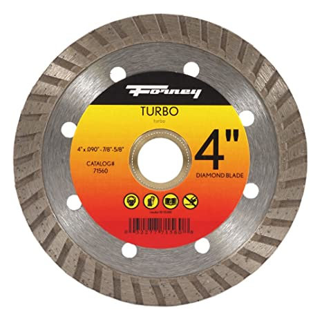 Forney 71560 Diamond Cut-Off Blade with 5/8-Inch Through 7/