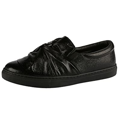 e4ba64ac08f26 ByPublicDemand Paisley Womens Flats Slip On Pumps Trainers Ladies Twist Bow  Plimsolls Shoes New: Amazon.co.uk: Shoes & Bags