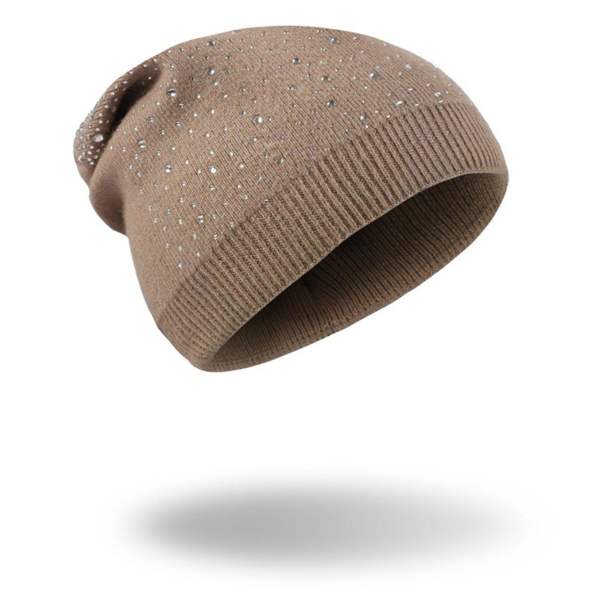 HAOYUXIANG Pelliccia Creativa Del Coniglio Di Autunno Ed Inverno Di Modo Con Il Cappello A Maglia,Brown