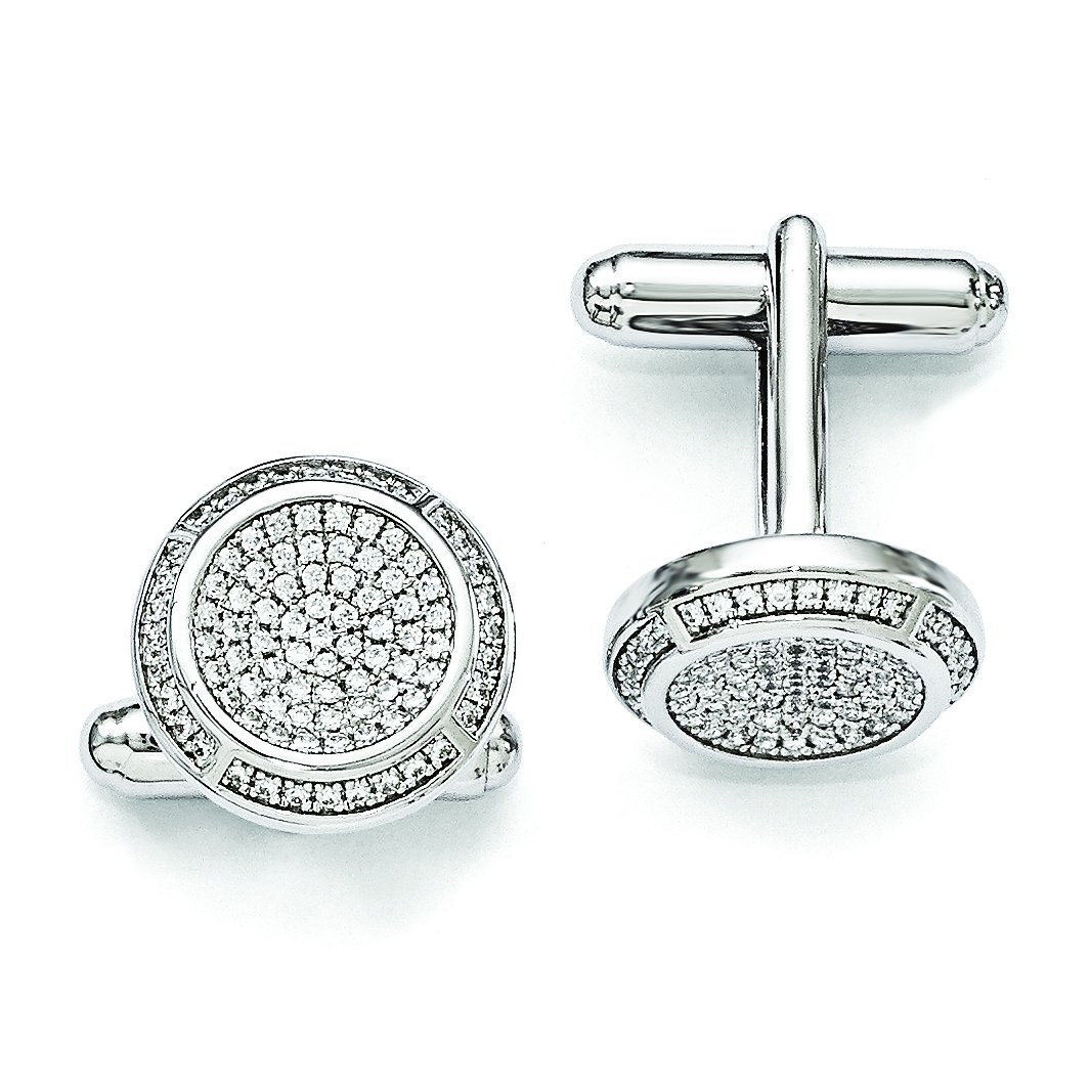 ICE CARATS 925 Sterling Silver Cubic Zirconia Cz Cuff Links Mens Cufflinks Man Link Fine Jewelry Dad Mens Gift Set