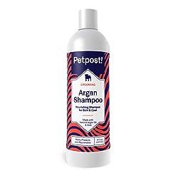 Petpost | Shampoing pour Chiens à l'huile d'argan - Soigne, protège et rafraîchit la Peau et Le Pelage secs de Votre Chien - Formule à l'huile d'argan et à l'aloe (237 ML)