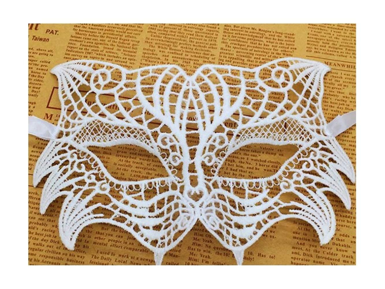 kxrzu Geheimnisvolle Tiger Lace Cutout Maske Maskerade Maske für ...