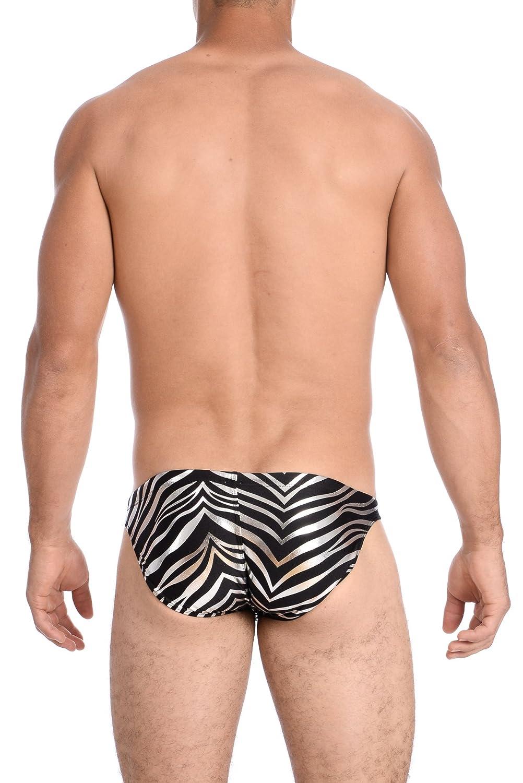 Gary Majdell Sport Mens Print Contour Pouch Greek Bikini Swimsuit