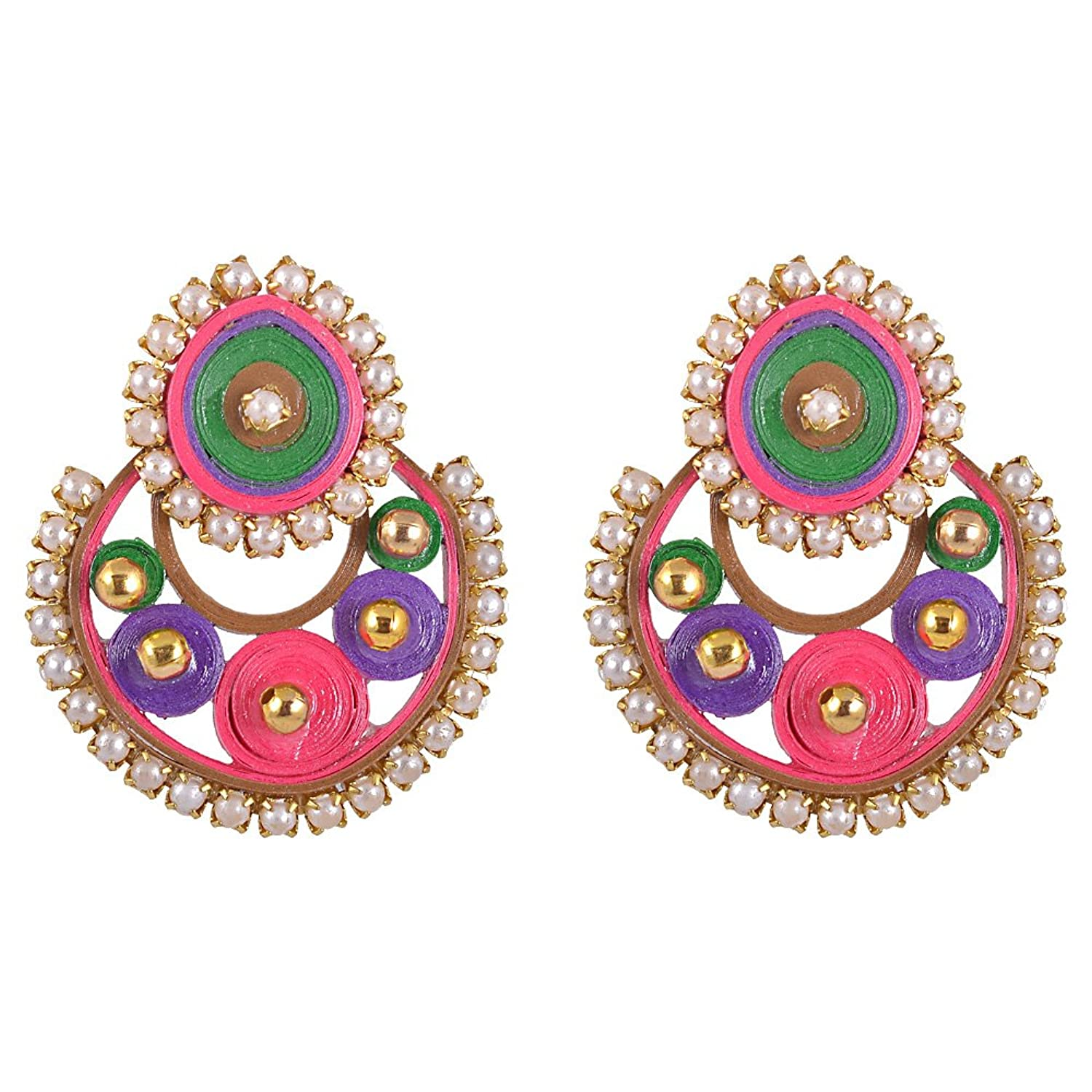 Buy Kaagitham Multicolored Ramleela type party wear quilled paper ...