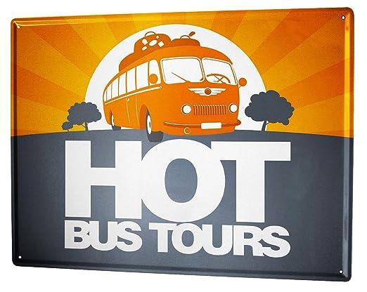 Cartel Letrero de Chapa Garaje Excursiones en autobús Gas ...