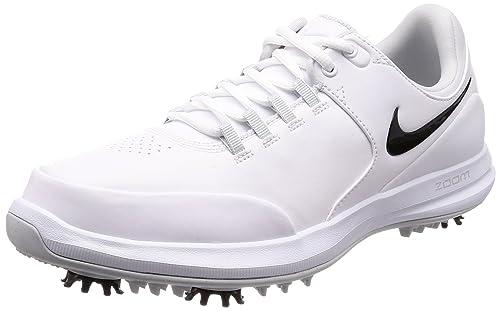 d749884eec890 Nike Zoom Accurate Golf Shoes 2018 White Black Metallic Silver Medium 7