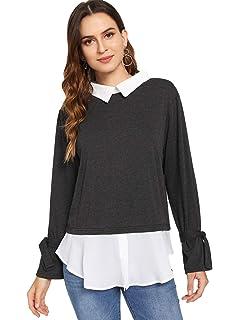 1fc82fe34 Amazon.com  U.S. Polo Assn. Juniors Plaid 2fer Sweater Top