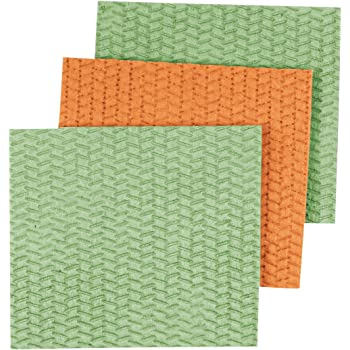 Amazon Com Casabella Sponge Cloths 3 Pack Assorted