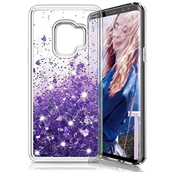 new concept 909d4 6a8c7 Samsung Galaxy J6 2018 Case,Glitter Liquid Luxury Sparkly Flowing Quicksand  Clear Transparent TPU Gel Silicone Bumper Shockproof Protective Phone ...
