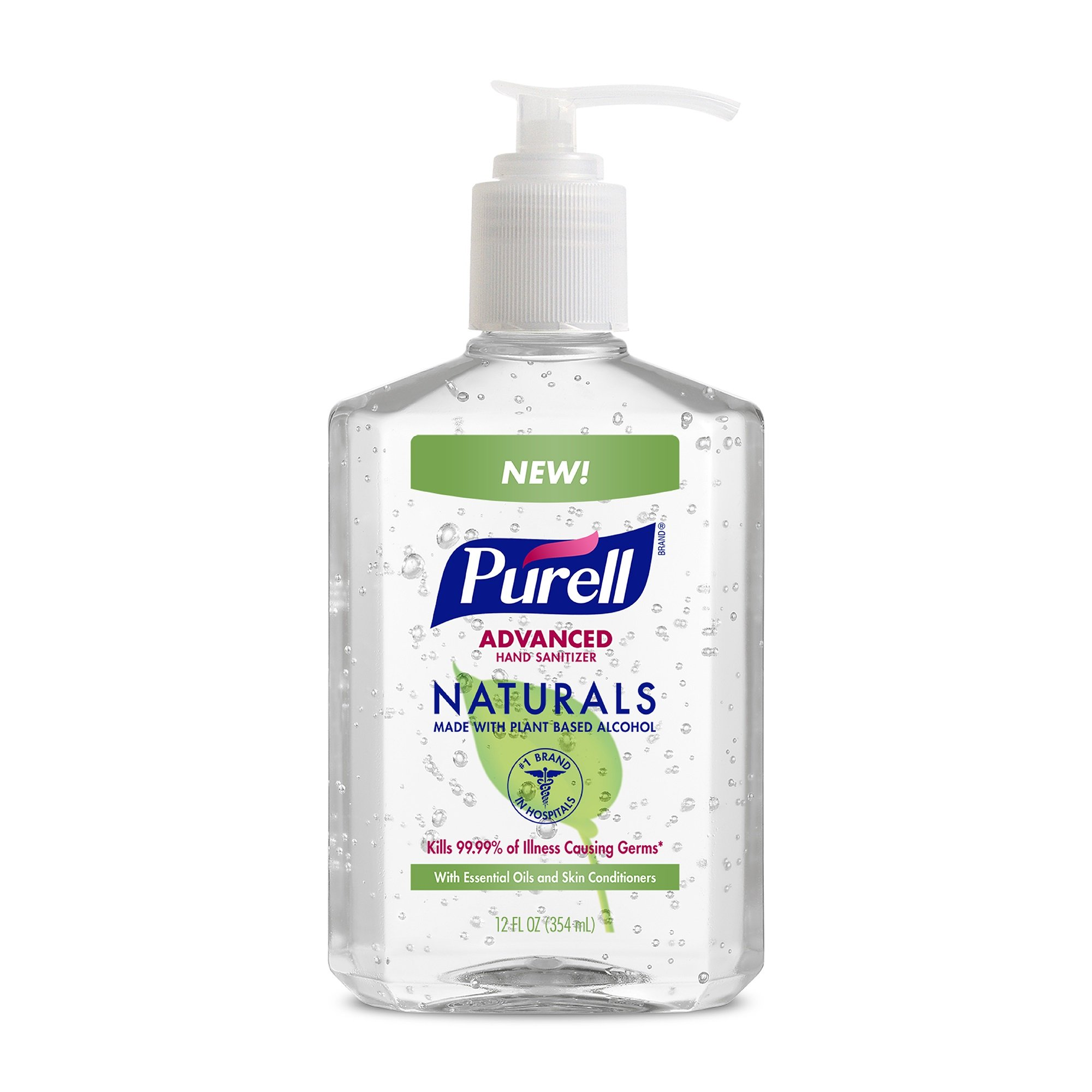 PURELL Naturals Advanced Hand Sanitizer - Hand Sanitizer Gel with Essential Oils, 12 fl oz Pump Bottle (Pack of 2) - 9629-06-EC