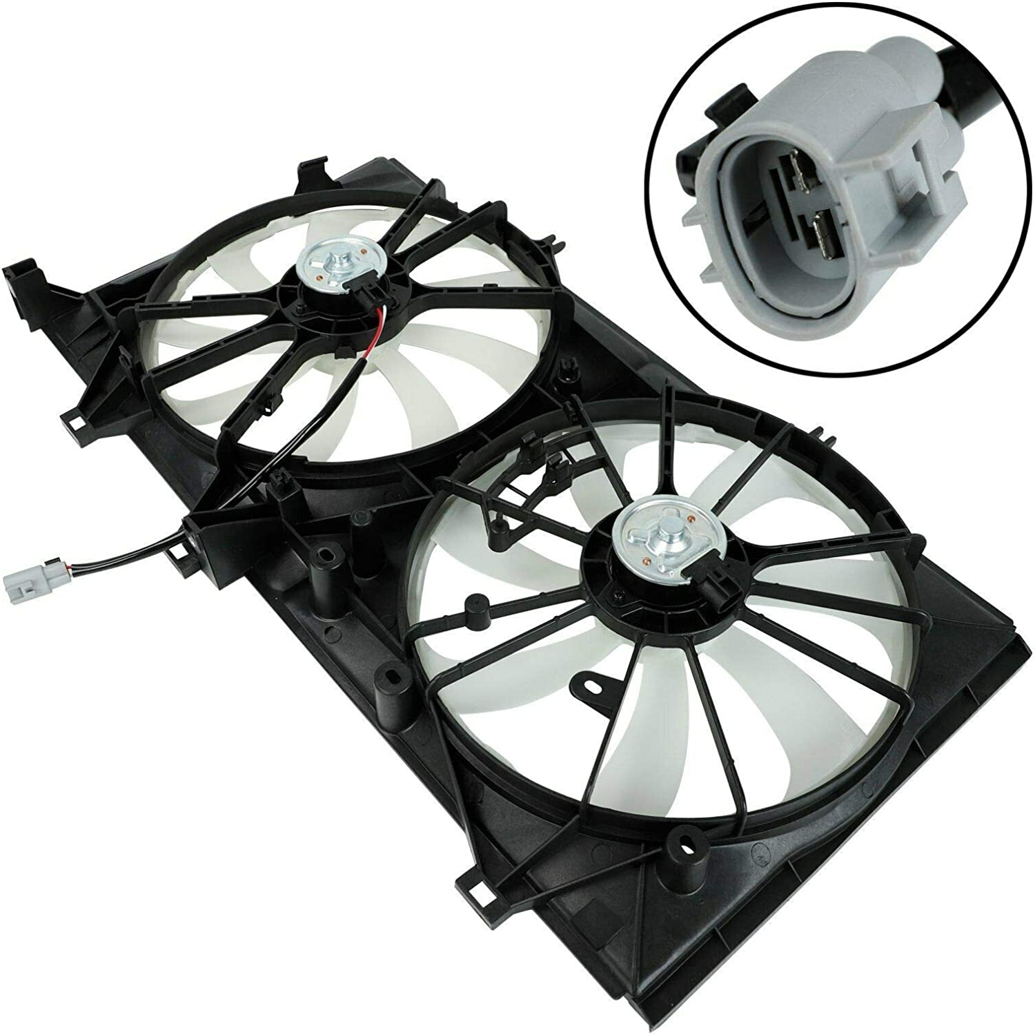 FYATTVA Dual Radiator Cool Fan Assembly Compatible with 2005-2014 Lexus ES350 Venza Avalon Camry
