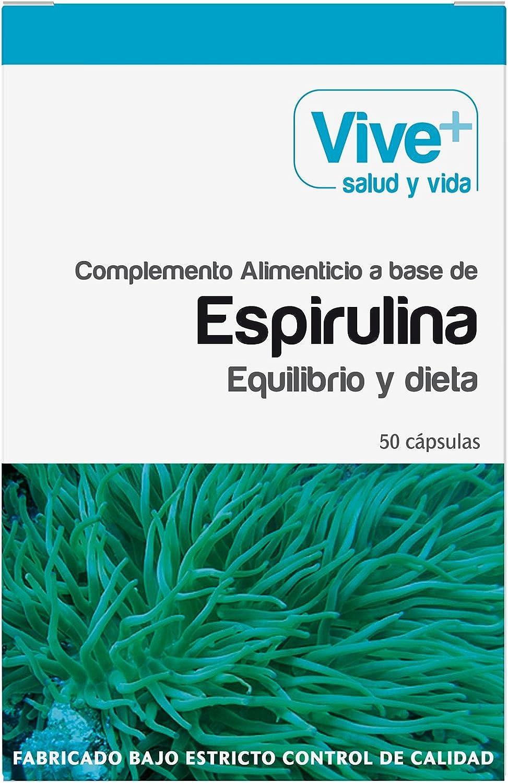 Vive+ Espirulina, Suplemento Alimenticio - 3 Paquetes de 50 ...