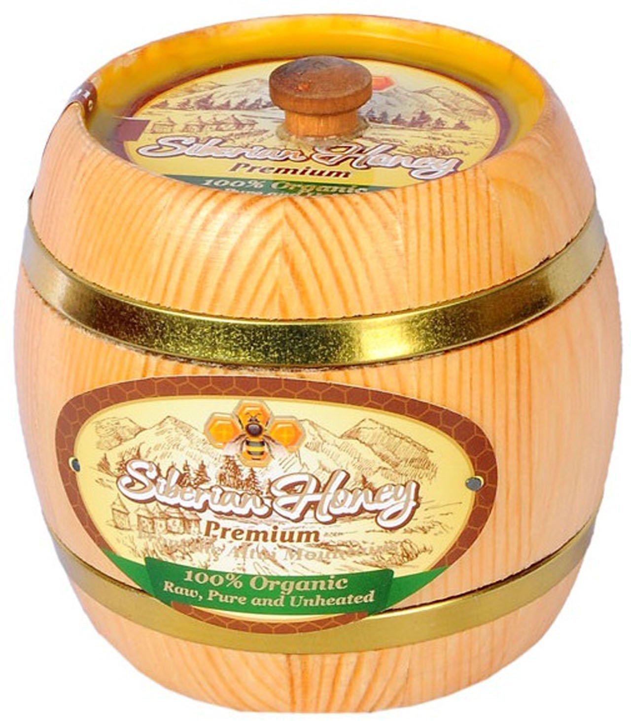 Siberian Premium Honey-100% Raw, Pure, Organic, NON-GMO, Unheated, Unprocessed (Pesticide, Antibiotic & Gluten FREE) - 1LB