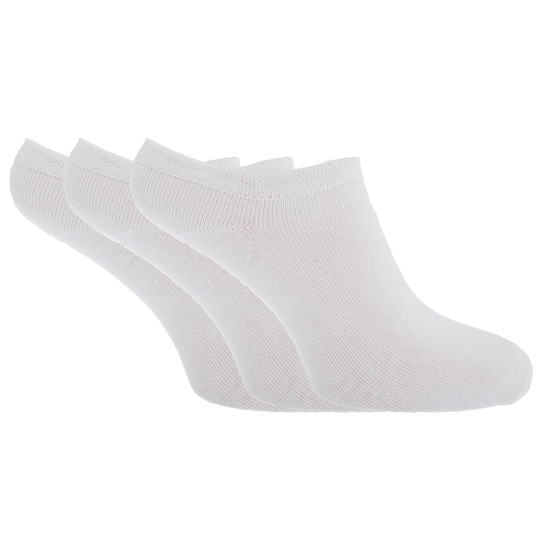 Womens/Ladies Plain Trainer Socks (Pack Of 6)