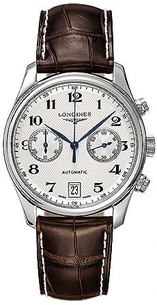 eebcfe5261 ロンジン マスターコレクション クロノグラフ アリゲーターレザー 腕時計 メンズ LONGINES L2.669.4.78.3[
