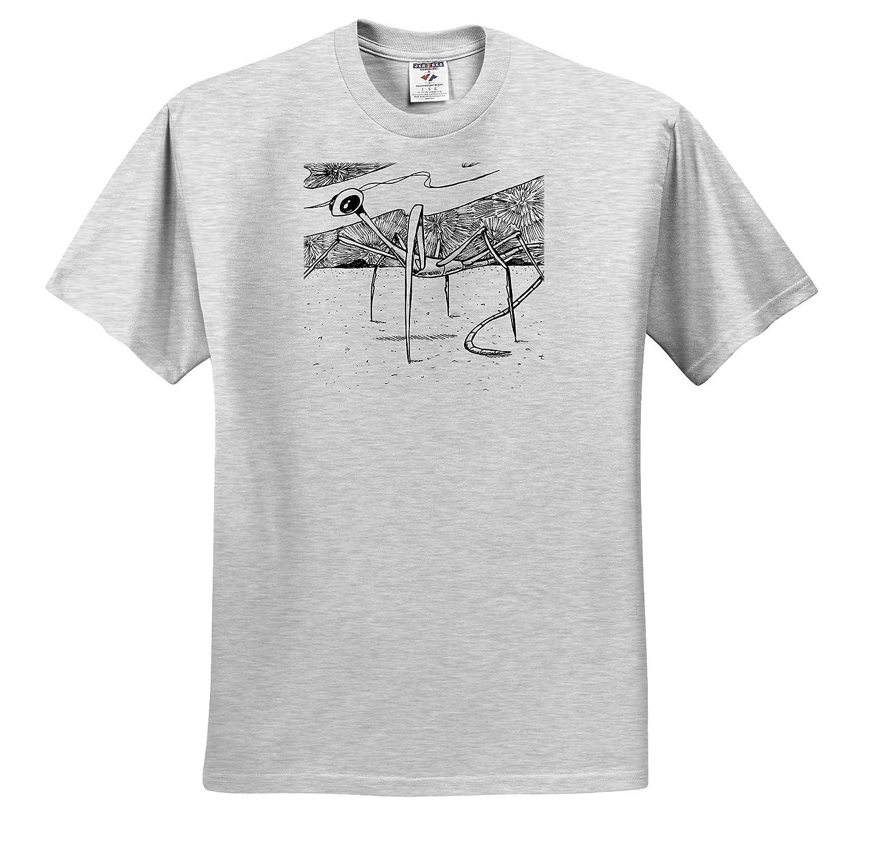 3dRose Travis ECK Adult T-Shirt XL Alien from Venus Art ts/_317526