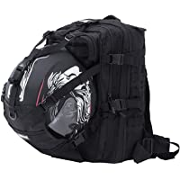 YAMEIJIA Motorcycle Helmet Backpack Cycling Waterproof Helmet Storage Hiking Helmetcatch Bag Large Capacity Back Pack with Military Molle Systerm and Reflective Stripe