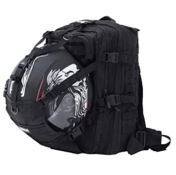Seibertron Waterproof Large Capacity Molle Motorcycle Helmet Holder/Cycling Helmet  Storage/Hiking Helmetcatch Bag