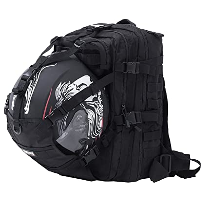 b3ae393404da Seibertron Waterproof Large Capacity Molle Motorcycle Helmet Holder Cycling  Helmet Storage Hiking Helmetcatch Bag