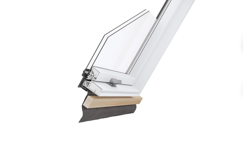 VKR Konzern Rooflite Velux Kunststoff Dachfenster Balio Schwingfenster mit Eindeckrahmen 114x112 cm wie 114x118cm