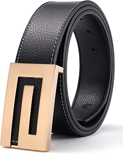 """Mens 32mm 1.25/"""" Smooth Grain Belt with Automatic Ratchet Buckle"""