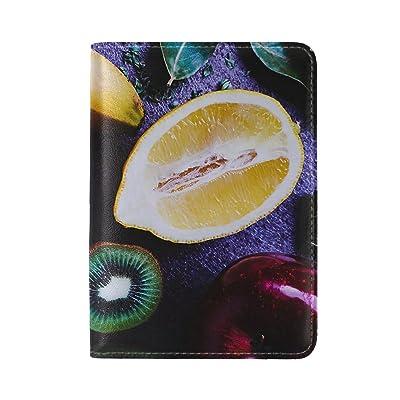 high-quality Fruit Lemon Orange Kiwi Banana Apple Leather Passport Holder Cover Case Travel One Pocket