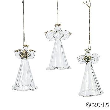 Amazon.com: One Dozen Spun Glass Angel Ornaments/CHRISTMAS Tree ...