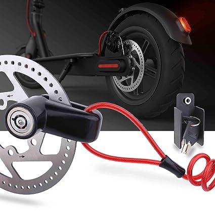 TOMALL Bloqueo de Freno de Disco Cable de Acero antirrobo para Xiaomi Mijia M365 Motocicleta Ruedas