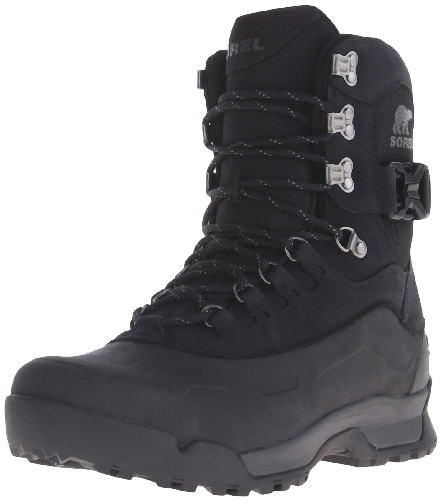 Sorel Men's Paxson Tall Waterproof Snow Boot, Black, Shark, 15 D US