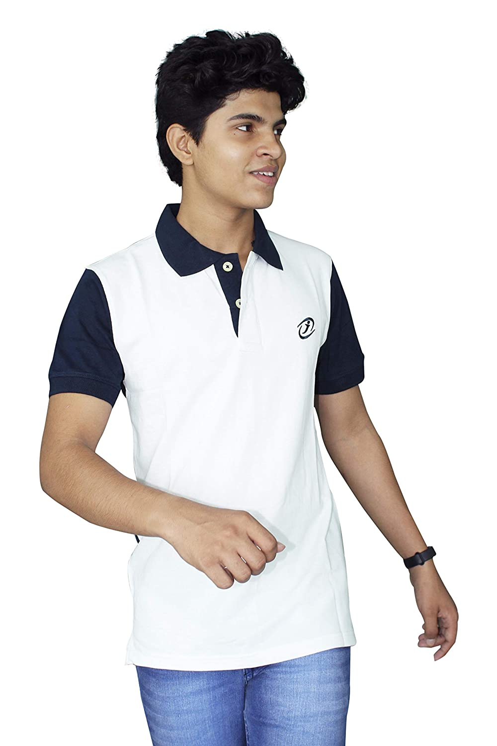 JigarZee White Polo T-Shirt for Men  c3e8c5014