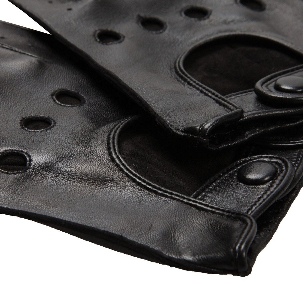 WARMEN Classic Mens Leather Driving Unlined Backless 4 Holes Gloves