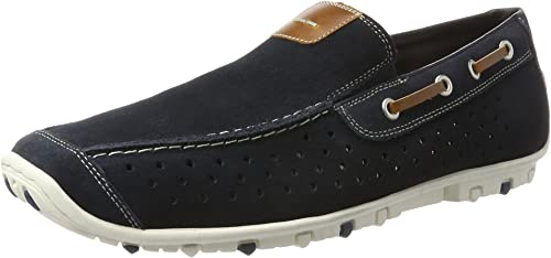 Rieker Herren Slipper Blau, Schuhgröße:EUR 42: