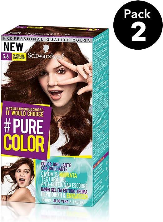 Pure Color de Schwarzkopf Tono 5.6 Chocolate Temptation - 2 uds - Coloración Permamente