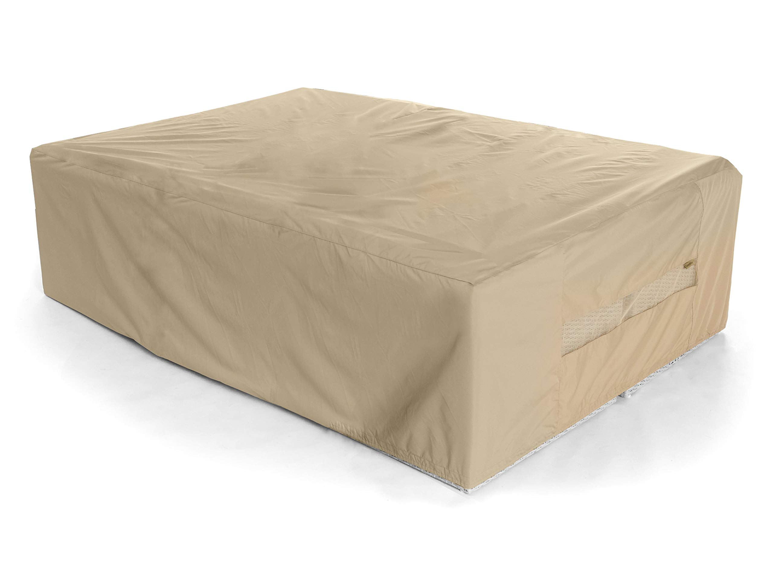 Covermates - Modular Sectional Sofa Cover - 138 Inch Width x 68 Inch Depth x 30 Inch Height - Elite - 300 Denier Polyester - Mesh Vent - 2 Buckle Straps - 3 Year Warranty - Water Resistant - Khaki by Covermates