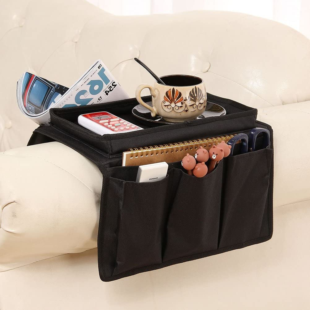 Coffee LIOOBO Oxford Cloth Sofa Couch Remote Control Holder Chair Armrest Caddy Pocket Organizer
