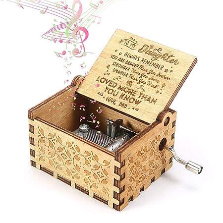 Cixof Caja de música Vintage grabada de Madera, Caja de ...