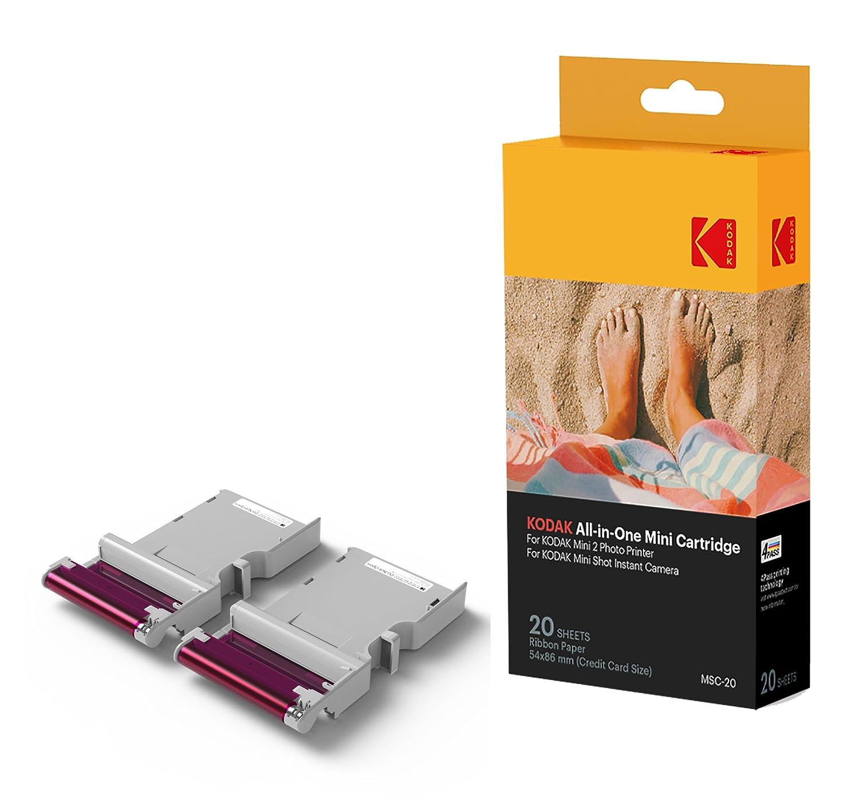 Kodak – Cartucho Mc impresión fotográfica mini, todo en uno, tinta y papel, lote de 30, compatible con cámara Mini Shot, impresora Mini 2