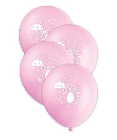 12u0026quot; Latex Pink Umbrellaphants Girl Baby Shower Balloons, ...